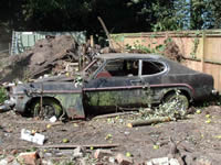 Wrecked Ford Capri - click for enlargement