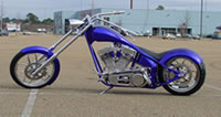 Custom chrome bike